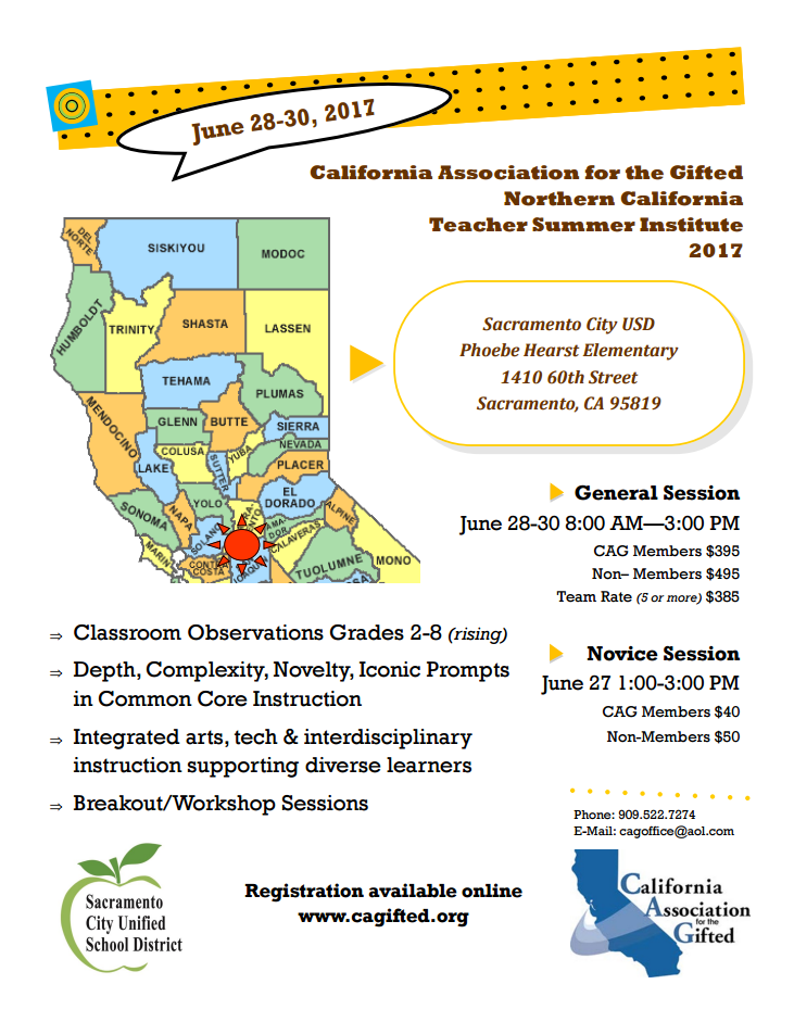 2017 04 06 California Association For The Gifted
