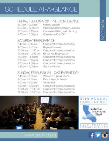 CAG_Conference_2019_Schedule_At-A-Glance