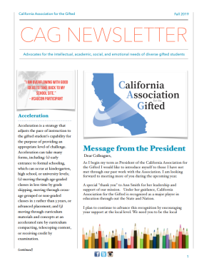 california association for the gifted 2019 fall newsletter
